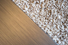 Brushed metal stone pebbles Stock Photo