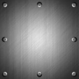Brushed metal surface effect background Royalty Free Stock Photos
