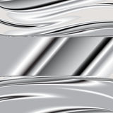Brushed metal texture, vector background Stock Images