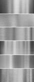 Brushed metal textures Stock Image