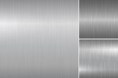 Brushed metal textures. Stock Photography