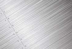 Brushed metal vector background Royalty Free Stock Photo