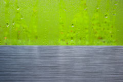 Brushed metal window drops abstract Royalty Free Stock Image