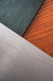 Brushed metal and wood texture Royalty Free Stock Photo