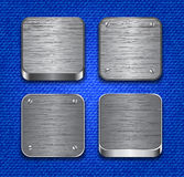 Brushed metallic buttons Stock Image