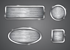 Brushed metallic buttons Stock Photography