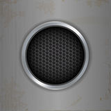Brushed metallic and mesh circle background Royalty Free Stock Photography