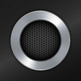 Brushed metallic and mesh circle border Stock Image