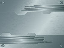 Brushed metallic surface. Abstract vector background of brushed metallic surface Royalty Free Stock Photography
