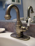 Brushed nickel faucet Stock Image