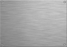 Brushed Panel. A brushed stainless steel panel for adding your own engraved text. A4 paper size Royalty Free Stock Image