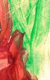 Brushed a peint le fond abstrait Sun et fond de nuage avec un pastel color? illustration libre de droits