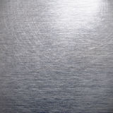 Brushed silver aluminum Stock Photography