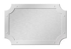 Brushed silver framed tablet Stock Photos