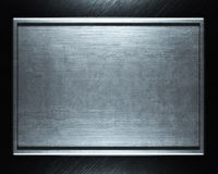 Brushed silver metal background Stock Photos