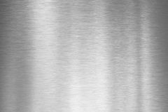 Brushed silver metal plate. Brushed metal aluminum plate background Royalty Free Stock Photography