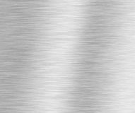 Brushed Silver Metallic Background Stock Photography