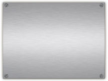 Brushed silver plaque Royalty Free Stock Images