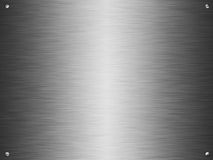 Brushed silver plate Royalty Free Stock Photography