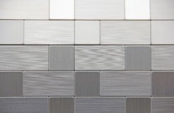 Brushed Stainless Steel Square Rectangular Geometric Shapes Royalty Free Stock Photography