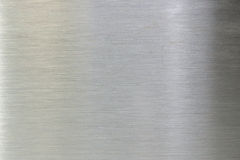Brushed steel. A picture of a plate of steel with a brushed surface Royalty Free Stock Photos