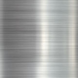 Brushed steel metallic plate Royalty Free Stock Photography