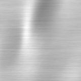 Brushed steel metallic plate Royalty Free Stock Image