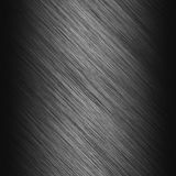 Brushed steel metallic plate Royalty Free Stock Images