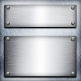 Brushed steel plate Stock Image