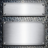 Brushed steel plate Royalty Free Stock Image