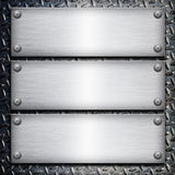 Brushed steel plate Stock Photos