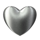 Brushed steel strong love heart Royalty Free Stock Photo