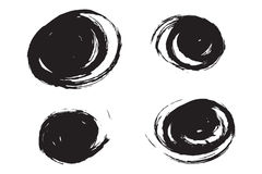 Brushed swirls. Beautiful brushed swirls in black sumi ink Royalty Free Illustration