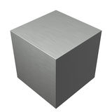 Brushed texture metal steel cube Stock Photos
