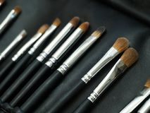 Brushers for make-up Royalty Free Stock Photography