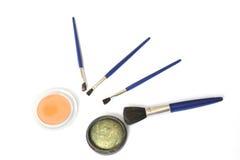 brushes ögonskuggor Fotografering för Bildbyråer