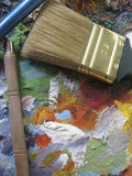 The Brushes. For Painting Royalty Free Stock Images