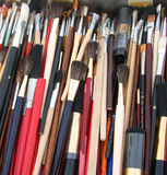 Brushes. Pile of Brushes royalty free stock images