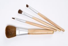 Brushes. Group of cosmetic brushes on a white background Royalty Free Stock Photos