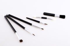 Brushes. Different kinds of brushes for make-up in front of white background Royalty Free Stock Photography