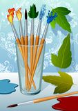 Brushes. Set of the unrealistic Brushes painter. The Abstract fantasy Stock Photo