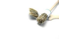 Brushes. Two brushes are isolated on white background Stock Photo