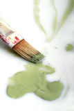 Brushes. Paint  green art color Royalty Free Stock Photos
