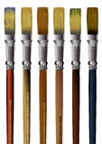 Brushes. Six illustrations of vector brushes Royalty Free Stock Images