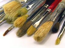 Brushes. Used old brushes Royalty Free Stock Photos