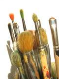 Brushes. Used brushed stock photo