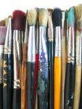 Brushes. Used brushed stock image