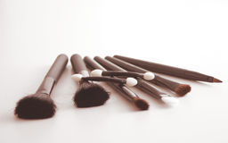 Brushes. Cosmetic brushes Royalty Free Stock Photos