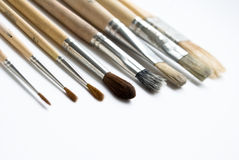 Brushes. On the white background Royalty Free Stock Photos