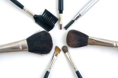Brushes. For Make Up Royalty Free Stock Photos